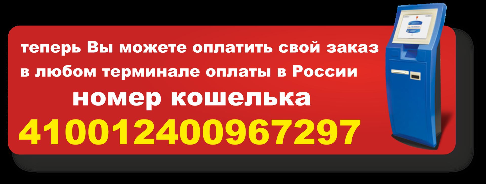 оплата через любой терминал в россии